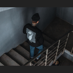 Бомбер Molotov Glitch Fleece Black