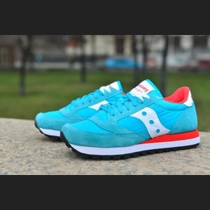 Saucony Jazz O aqua blue/red